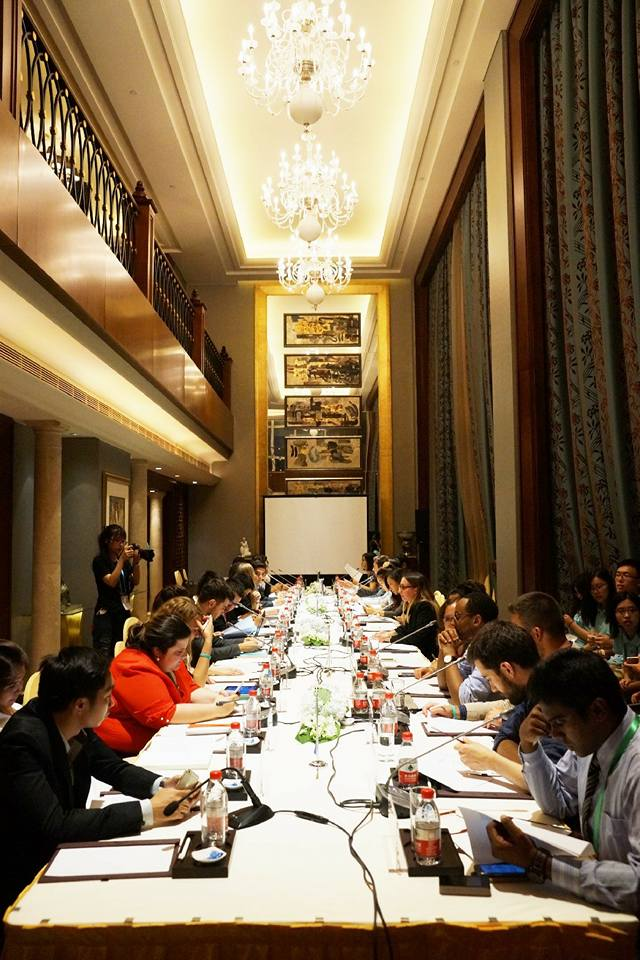 The head delegates meeting to finalize the Y20 communique
