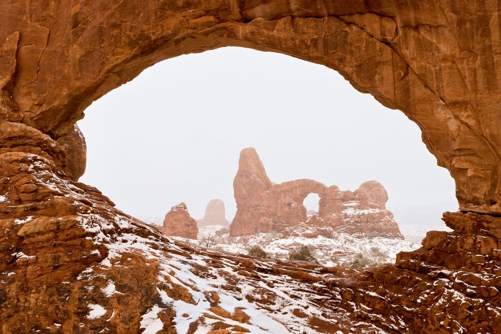 Winter at the Windows, Arches National Park