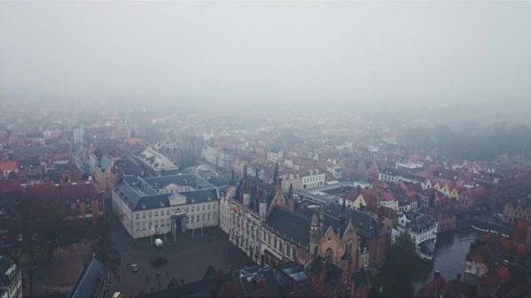 A view from the Belfry of Bruges - IG @rhiarhiajones