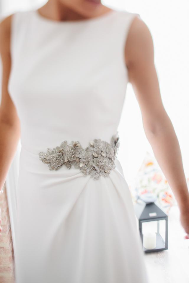 Cinturones para vestidos de fiesta plata