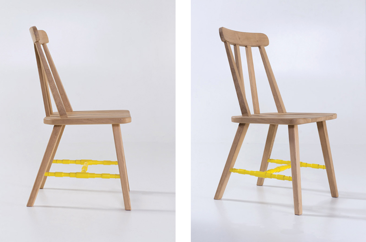 Danja Dining Chairs in yellow