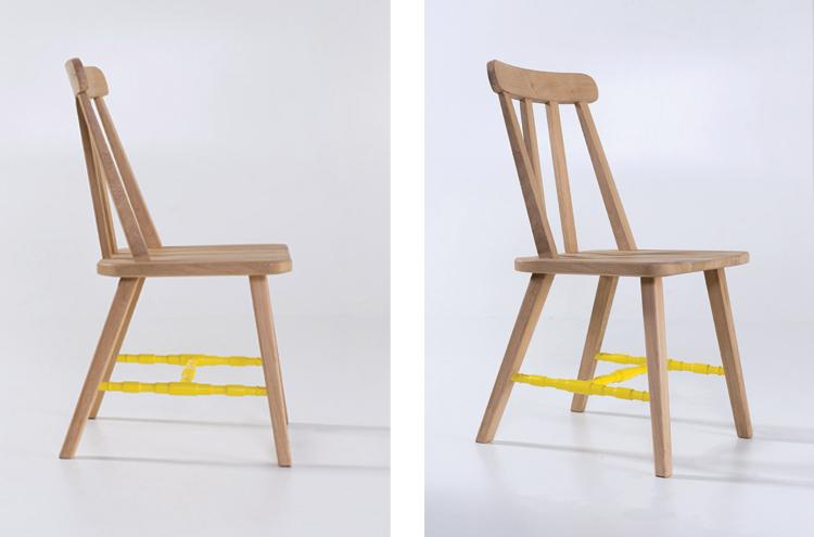 Danja Dining Chairs in yellow