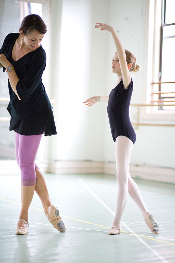 Colette with one of her students