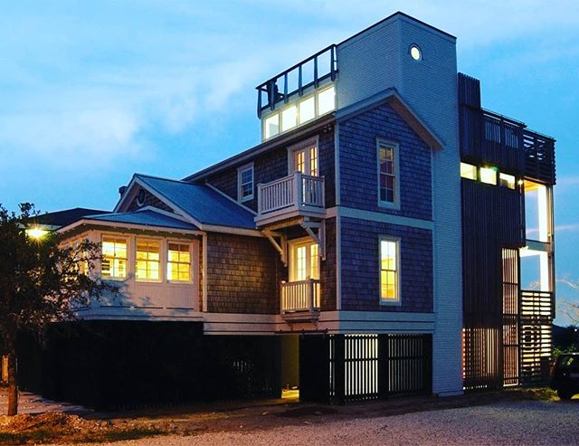 "A blast from the past, ""Half & Half House"". Completed in 2004.#wrightsvillebeachnc #renovation #oldandnew #ncarchitecture #ncmodernist"