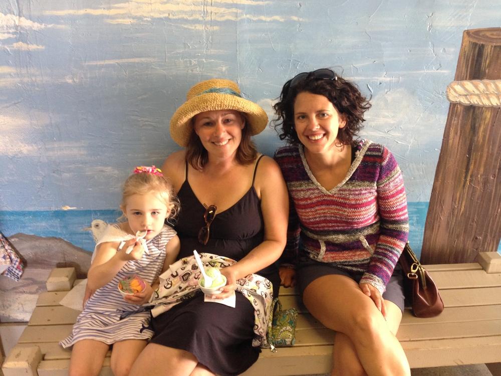 Jacqui, her cousin Sarah, and niece Katie