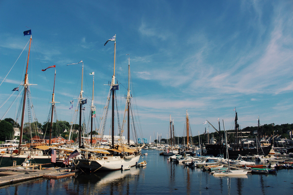 A beautiful harbor in Camden, Maine