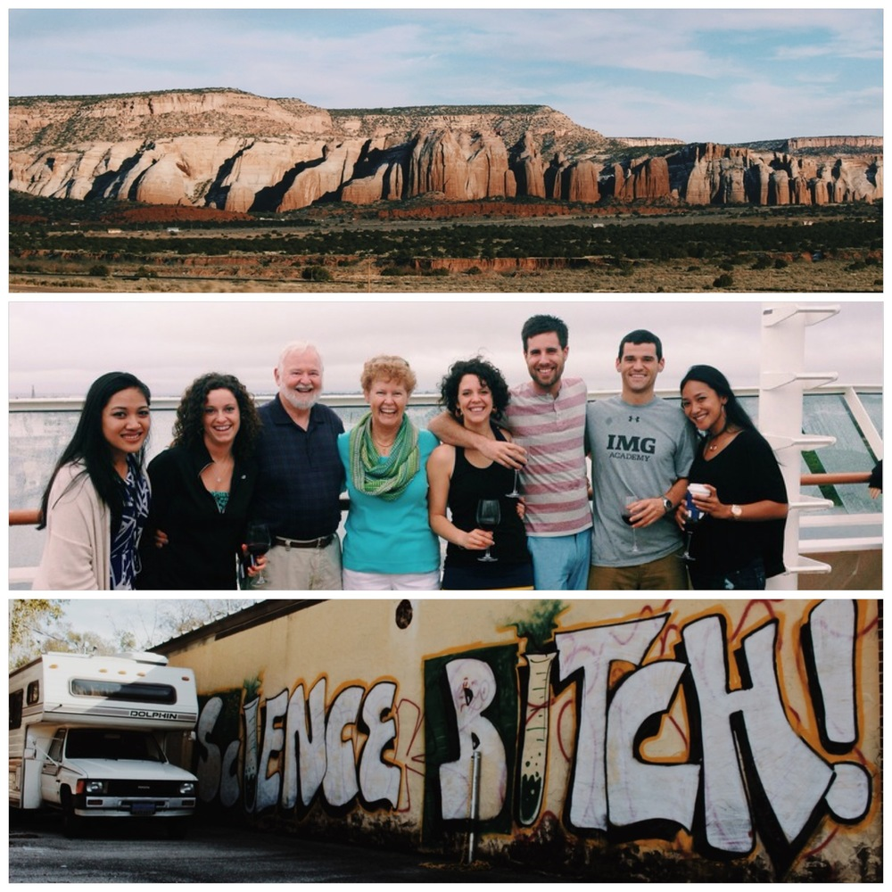 Somewhere in AZ or NM.  Enjoying family time on a holiday cruise, and our RV's Breaking Bad moment.