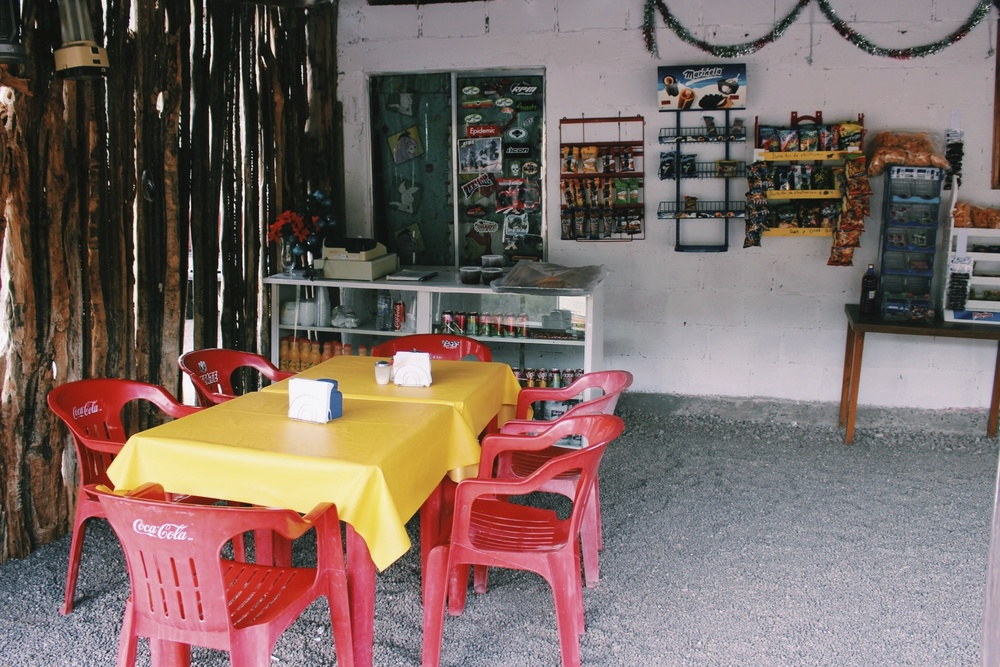 Driving down Baja, we went to a lot of places that looked like this.  The owner of this shop/restaurant whipped us up a cup of instant coffee which was all we needed for our early morning driving.