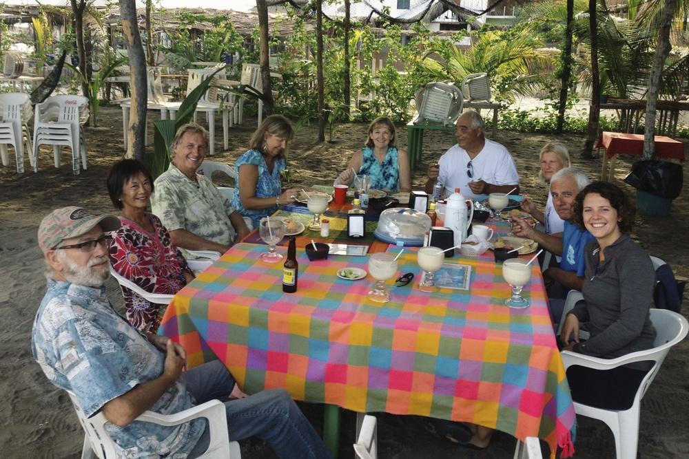 Pina coladas and dinner with our Tres Amigos amigos.