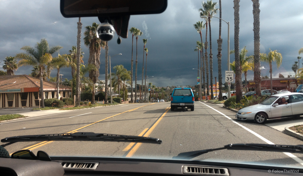 Ominous clouds in SoCal