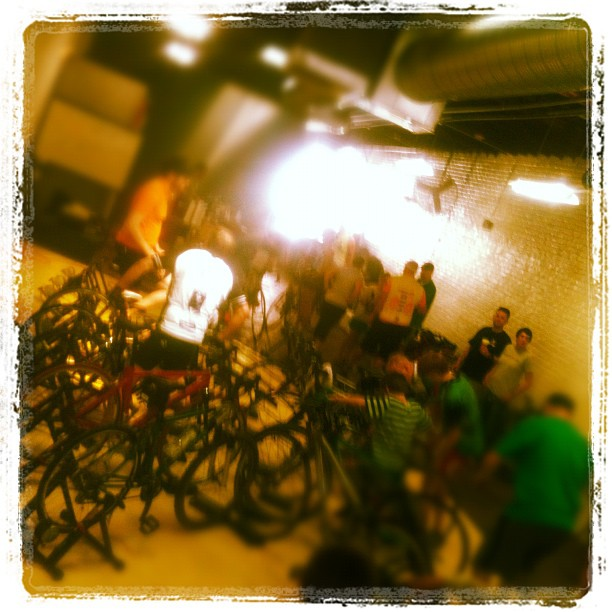 Kicking off #pedalpower 2012 at the Richmond Bicycle Studio #RCC (Taken with Instagram at Richmond Bicycle Studio)