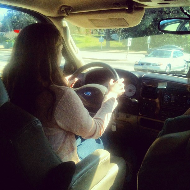 Learning to drive the F250 #driversed (Taken with Instagram at Somewhere in Gloucester)