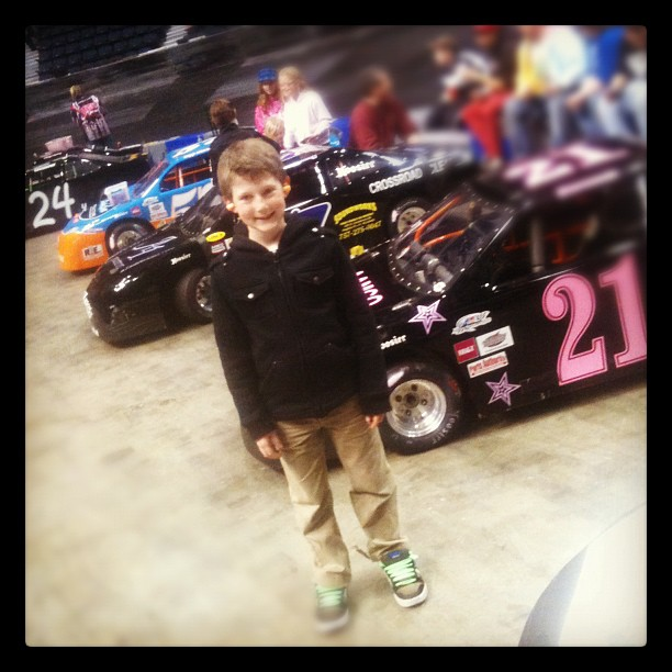 Previewing the cars before the racing. (Taken with Instagram at Richmond Coliseum)