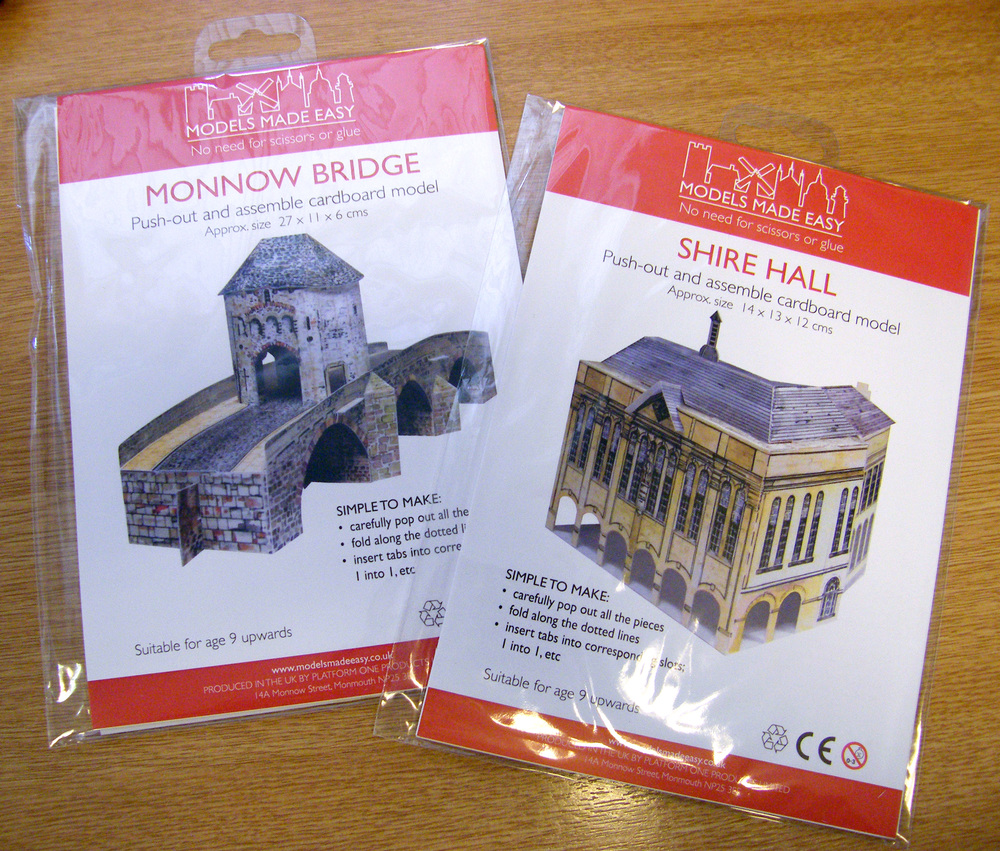 Monnow Bridge and Shire Hall, models