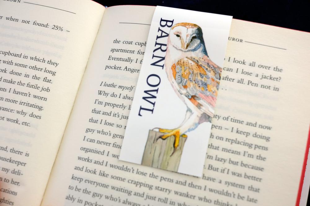 Barn Owl, Magnetic Bookmark