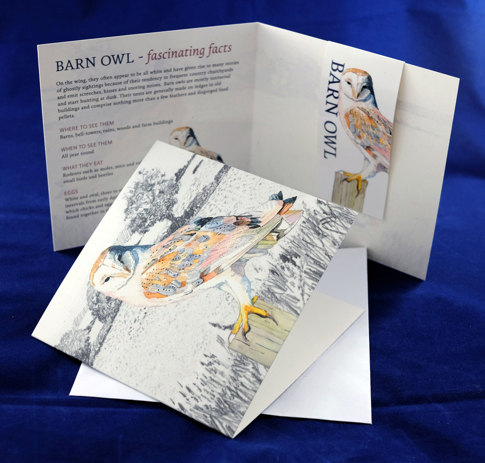 Barn Owl Magnetic Bookmark and Greetings Card. RRP £3.99 from Etsy