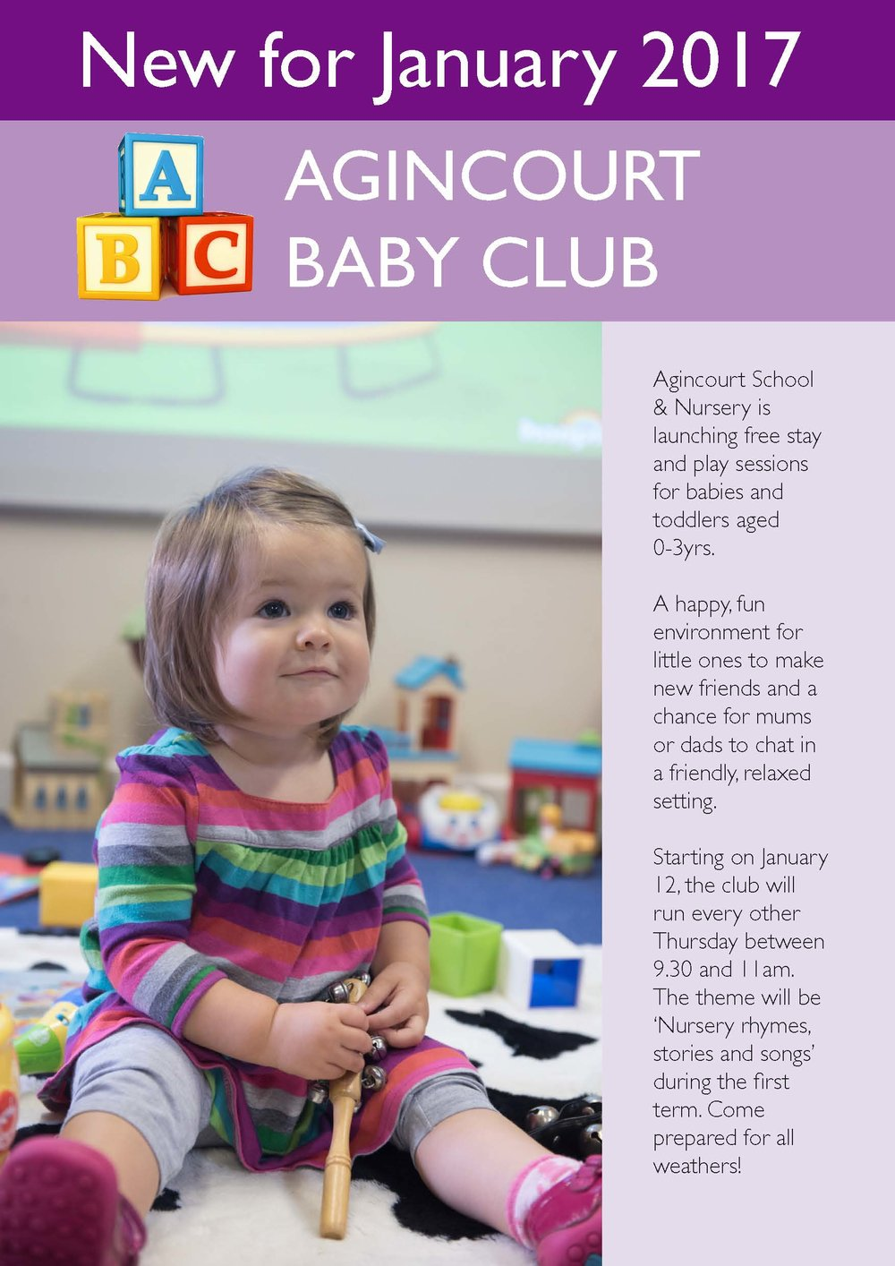 AGINCOURT SCHOOL NEW BABY CLUB LEAFLET