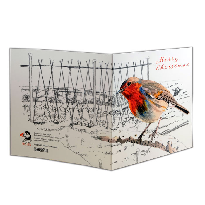 Artfull Puffin Christmas Robin Cards