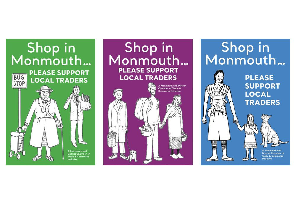 #MDCTCshoplocal campaign posters
