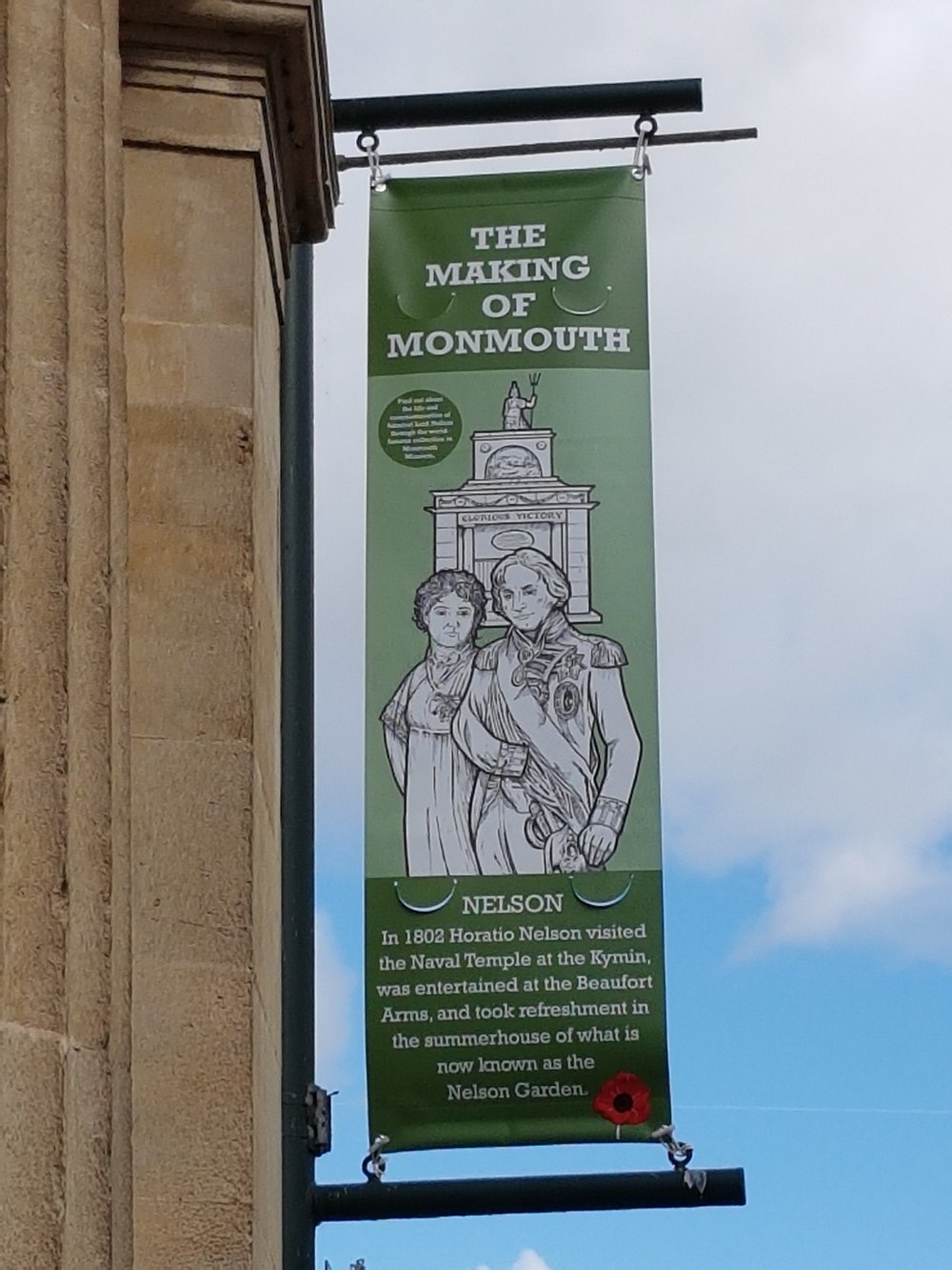 Nelson and Emma Hamilton visited Monmouth in 1802