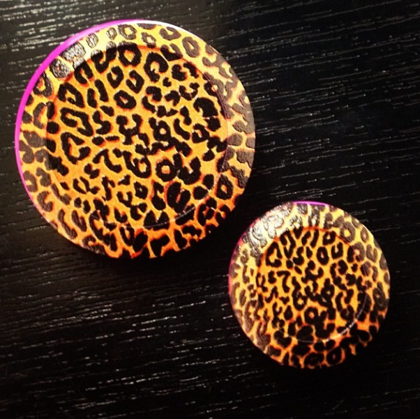 Leopard Print Button Covers