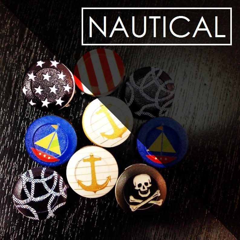 Nautical Button Covers