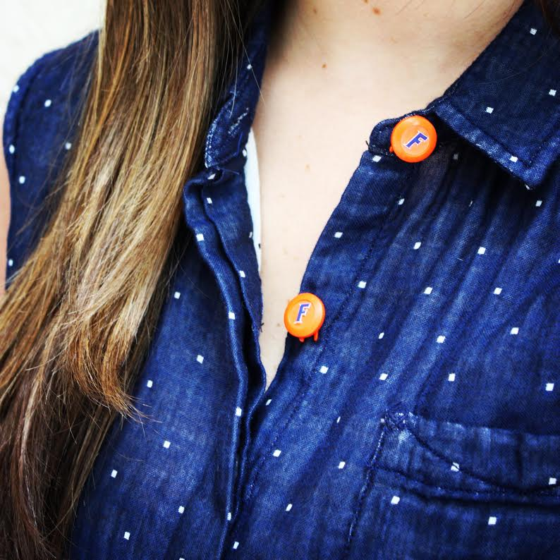 Forema Navy Blouse + UF Button Covers