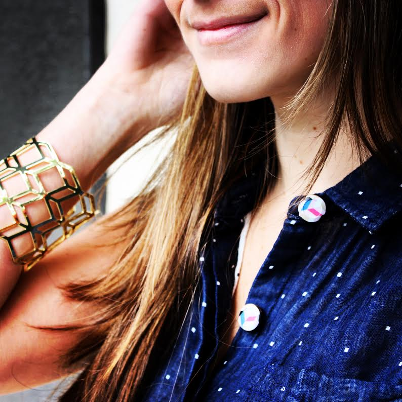 Forema Top + Geo Bracelet + Button Covers