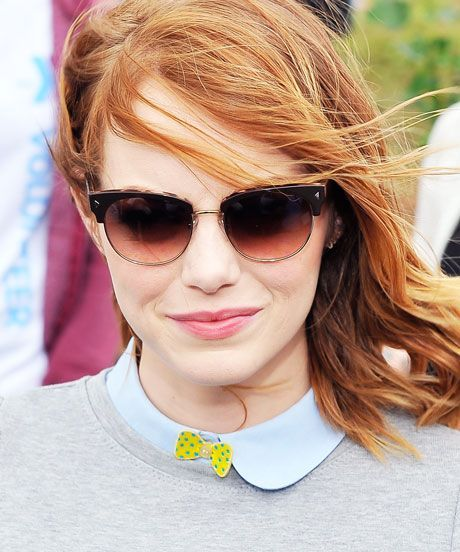 Emma Stone Button Bow Tie