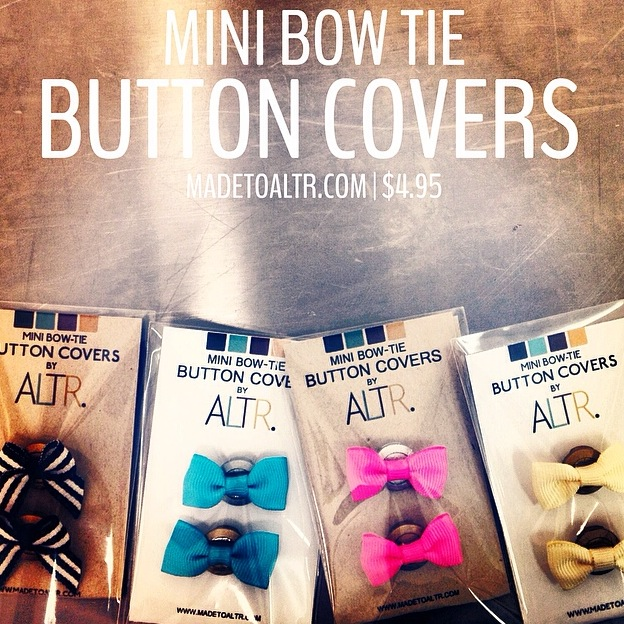 Sets of Mini Bow Tie Button Covers: $4.95