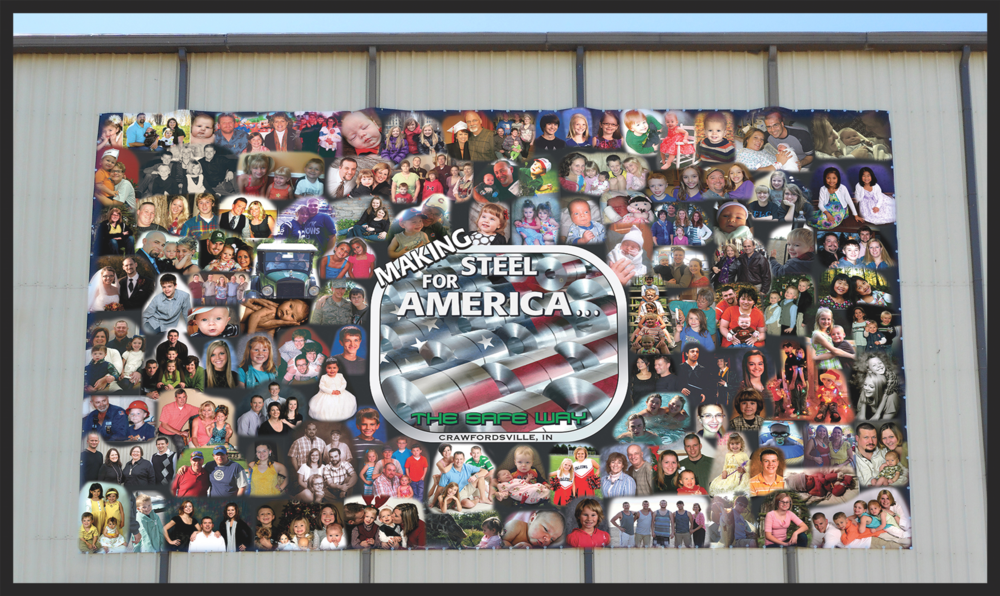 Nucor Indiana - 40' x 66' Custom Collage XXL Banner