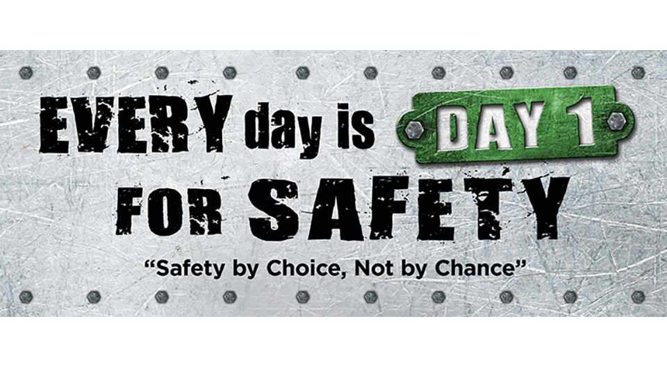 6' x 18' Safety Banner - Every Day Is Day 1 For Safety