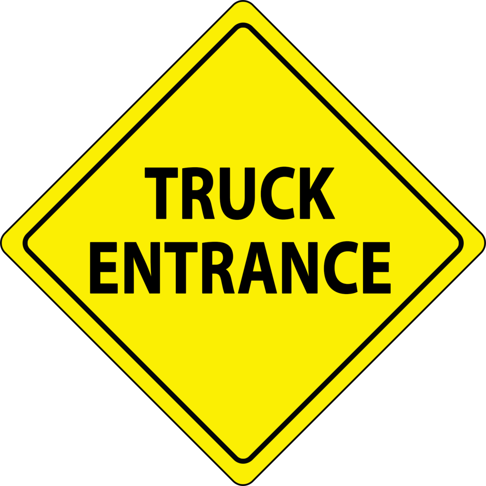 CAUTION TRUCK ENTRANCE 24x24.png