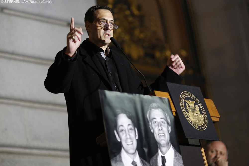 Stuart Milk at Annual Rememberance of Harbey Milk In San Fransico.jpg