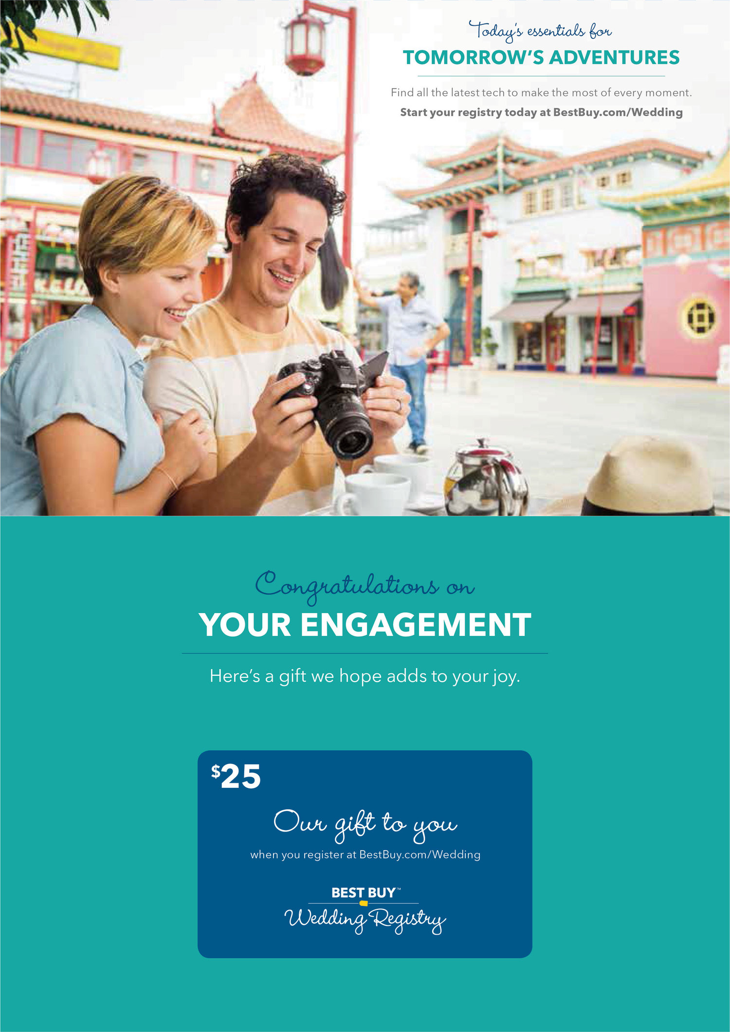 Best Buy Wedding Registry | Best Buy Wedding Registry Direct Mailer Amy Grace Design