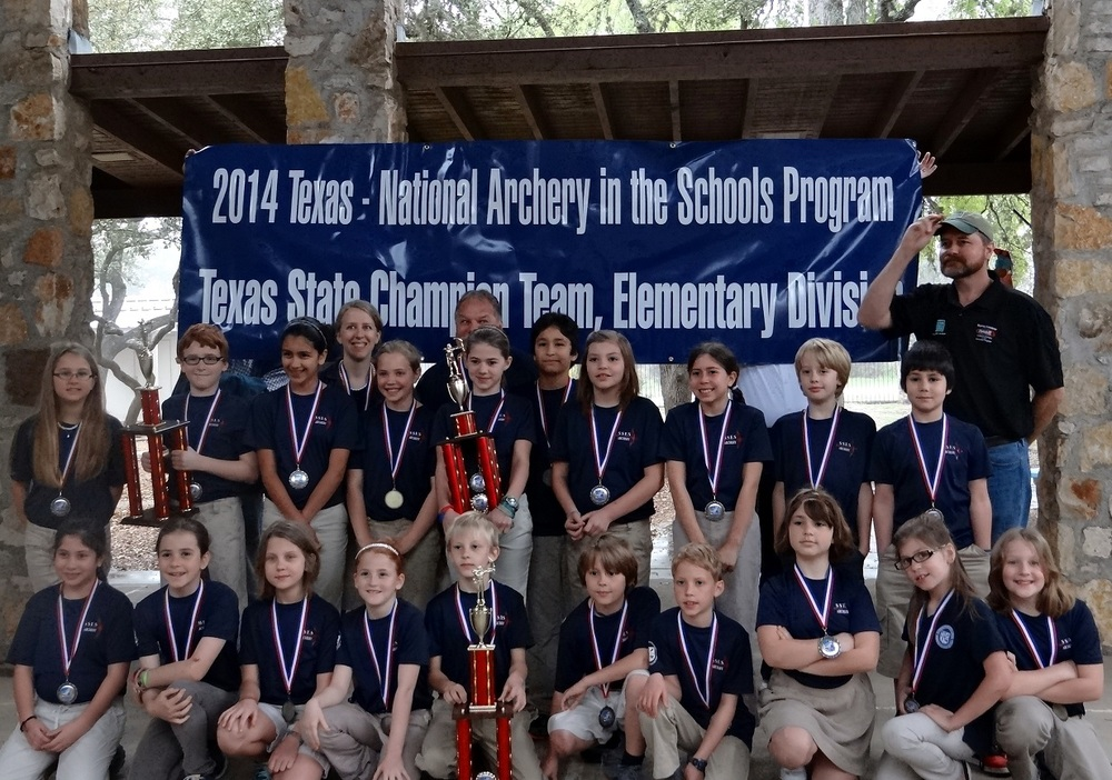Congratulations to the 2013/14 St. Stephen's Archery Team for achieving the#1ranking among all Texas elementary schools in the National Archery in the Schools Program (NASP) State Tournament in Belton on March 6th! We're so proud of you!