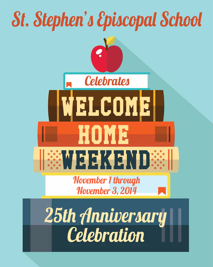 Current and Former Students, Families, Faculty and Friends - please join us in celebration of St. Stephen's School's 25th Anniversary! Click for details of our School's Welcome Home Weekend 25th Anniversary Celebration!