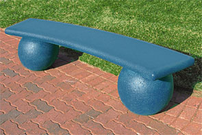 GIVING LEVELS - $2,500: Includes a Curved Blue Concrete BENCH and one 8