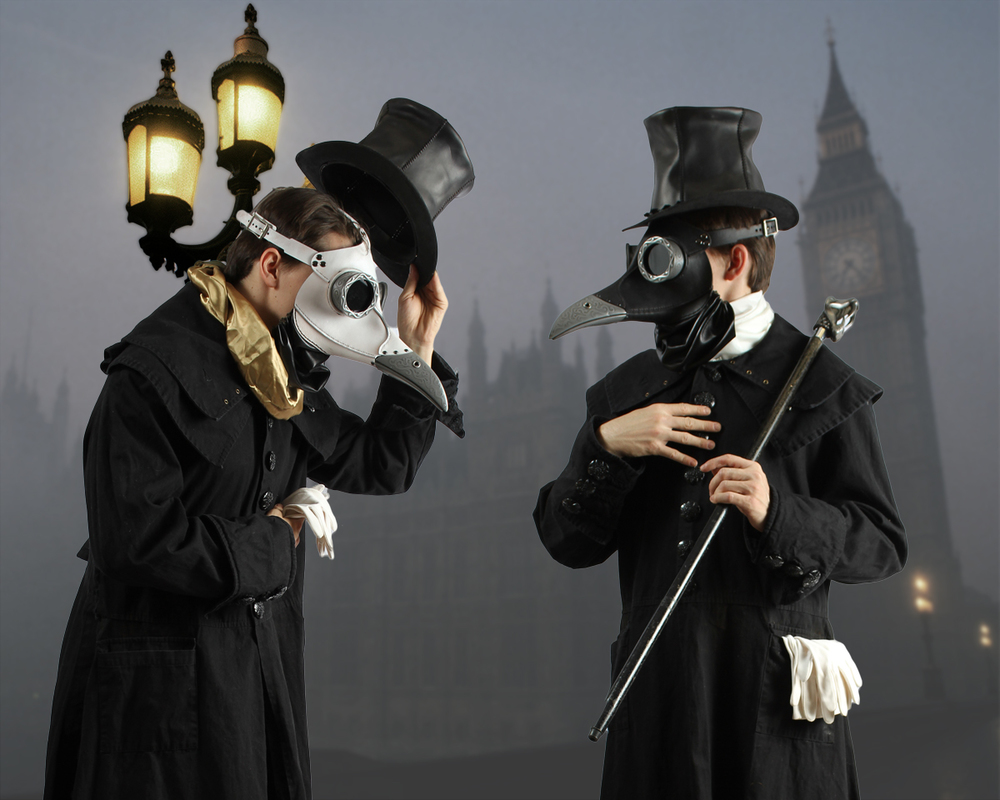 Two Gentlemen Plague Doctors