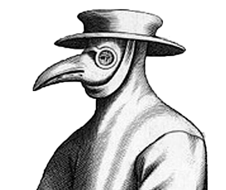 Etching of Plague Doctor