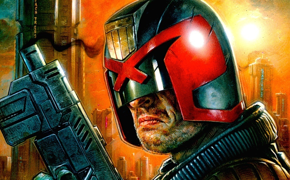 The Current Judge Dredd Helmet that I based mine on