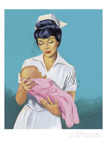Nurse that deals with newborn babies