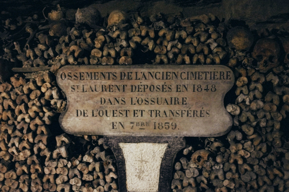 Bones of the ancient cemetery St. Laurent
