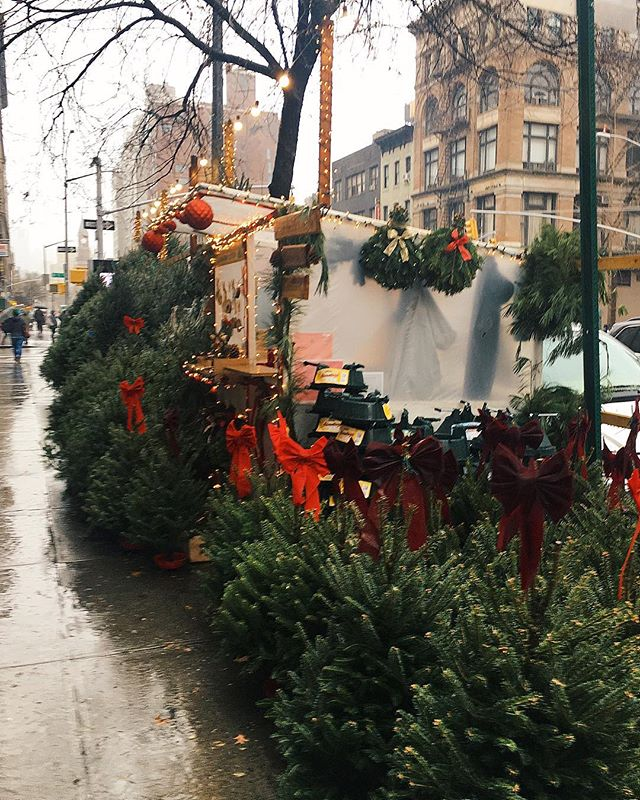 A very rainy, slightly blurry street in New York ✨