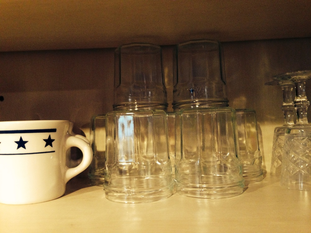 Undaunted by reduced numbers, my jars reclaim their ancestral shelf space.