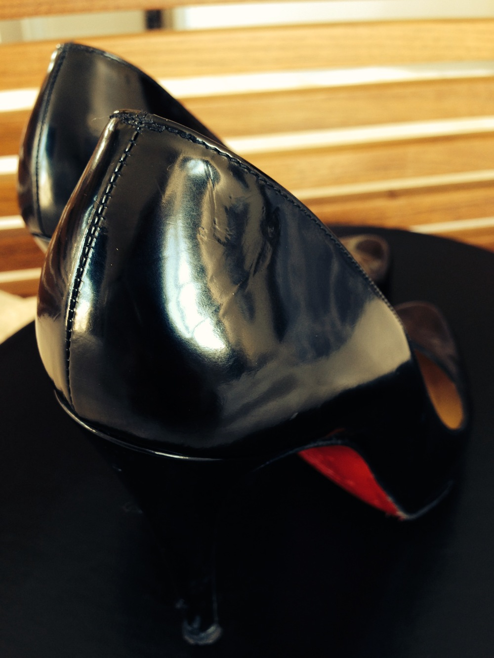 A good polish emphasizes the swooping shape of stilettos.