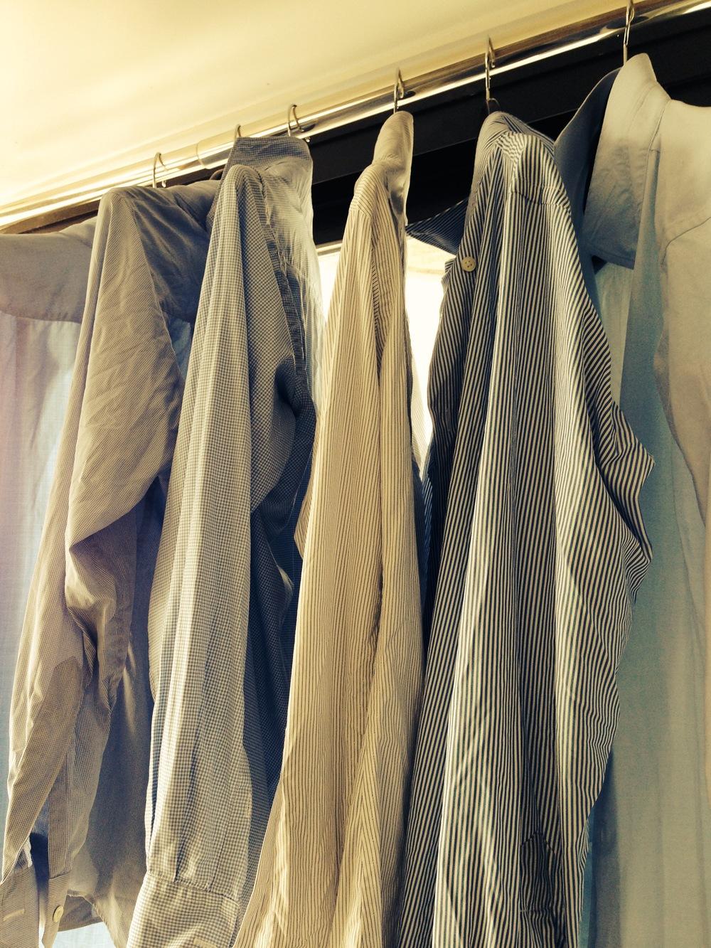An ambitious half dozen for the advanced shirt launderer.