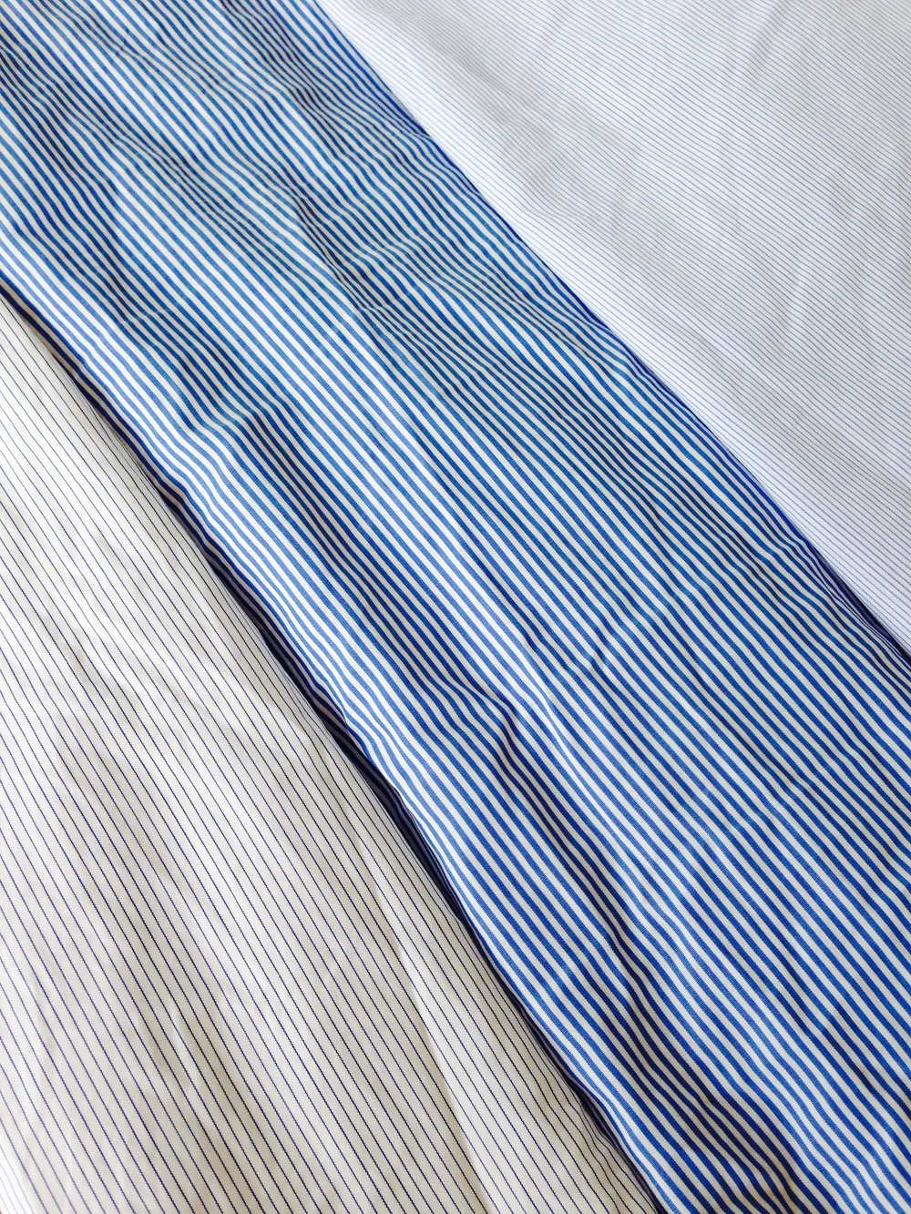 From left to right, pin, dress and hair stripes.