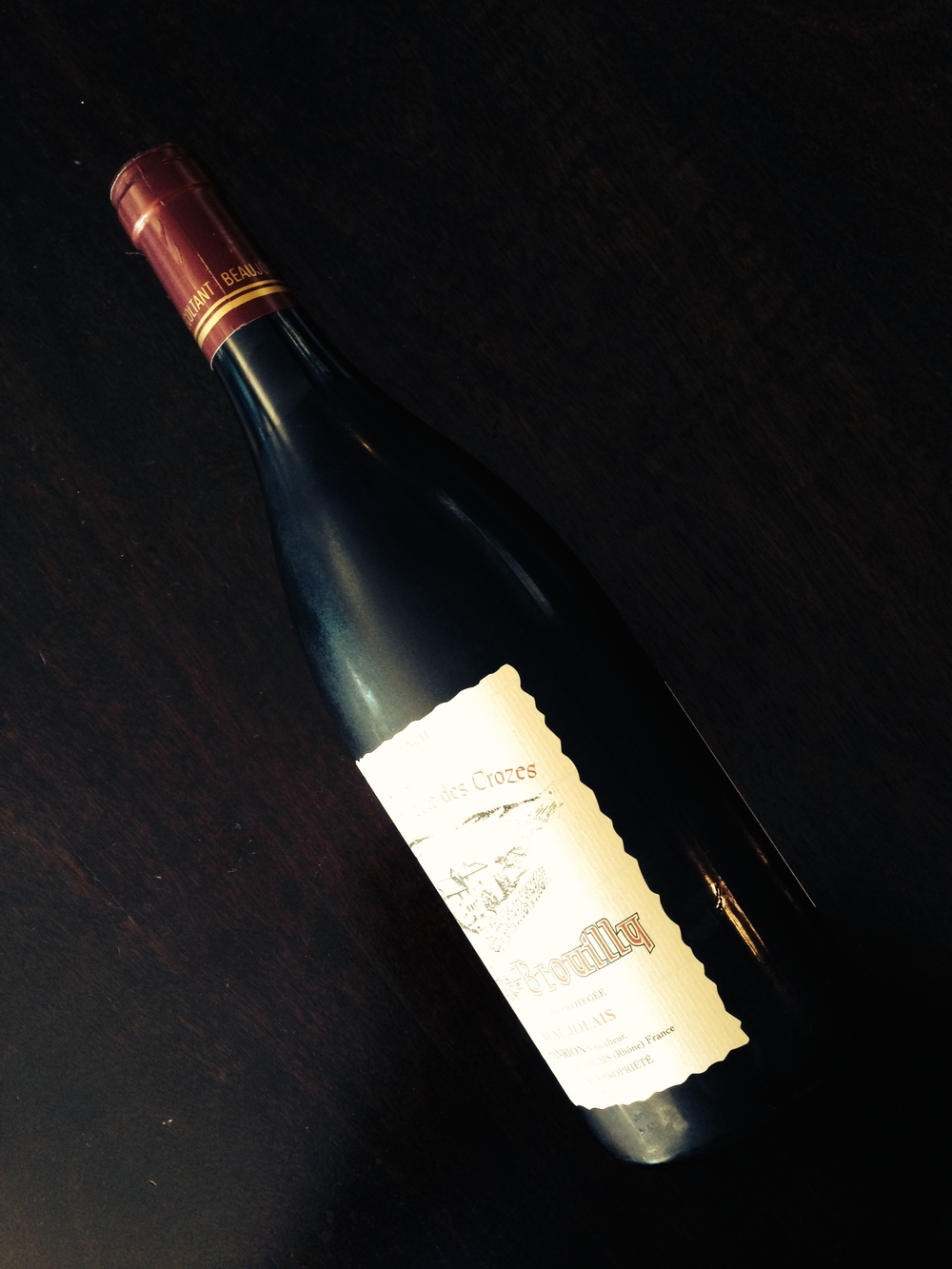 This Cote de Brouilly could go either way--chilled or cellar temperature.