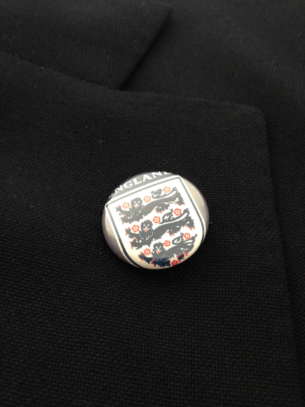 A lapel pin never looked so good.